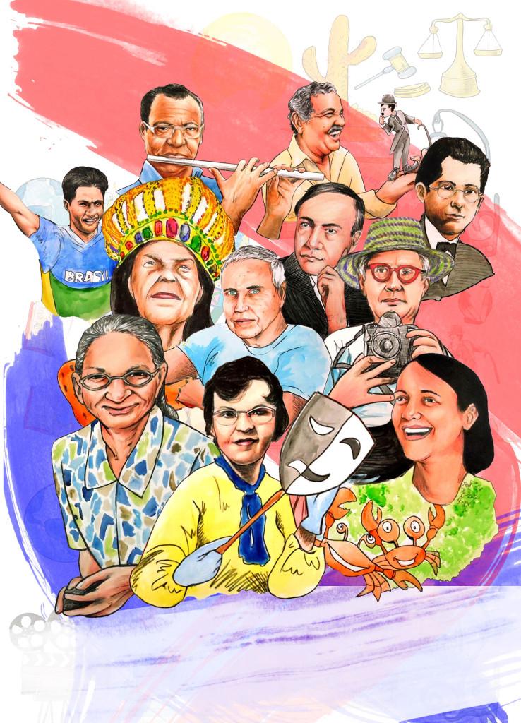Ilustração produzida pelo artista alagoano Fellipe Eernesto para a campanha Espaço Educar 2015