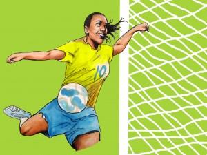 Marta futebol - outro rosto